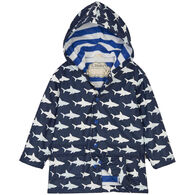 Hatley Boy's Color Changing Shark Frenzy Raincoat