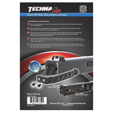 Techna Clip Glock 42 Belt Clip - Right or Left Side