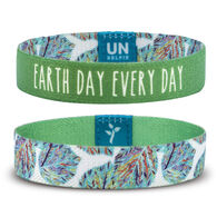 Unselfie Women's Earth Day Foliage Pattern Wrist Band