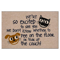 High Cotton Doormat - We're So Excited to See You