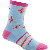 Darn Tough Vermont Girls' Indie Floral Crew Light Cushion Sock