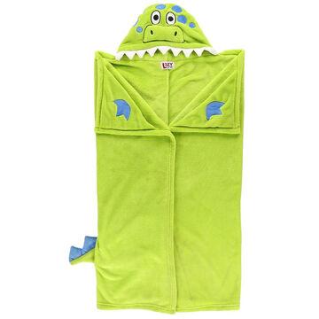 Lazy One Kids Dinosaur Critter Hooded Blanket