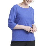 Habitat Women's Cuffed Boat Neck 3/4-Sleeve Shirt