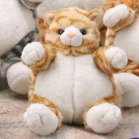 "Unipak Designs Plush 7"" Tabby Cat Plumpee"