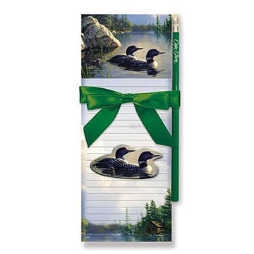 Cape Shore Tranquil Loon Magnetic Pad Gift Set