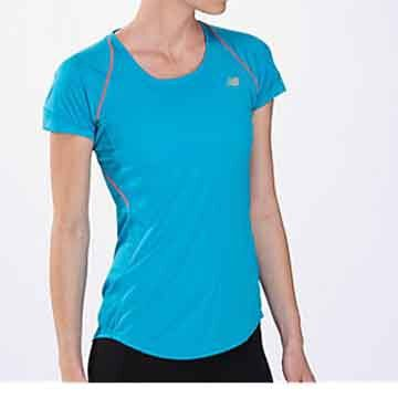 New Balance Womens Impact Short-Sleeve Shirt