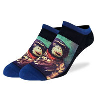 Good Luck Sock Men's Space Monkey Ankle Sock
