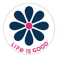 """Life is Good Simple Daisy 4"""" Circle Sticker"""
