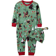 Hatley Little Blue House Infant/Toddler Boys' & Girls' Northern Baby Coverall and Hat Set