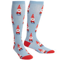 Sock It To Me Women's Stretch-It Santa Gnomes Knee High Sock