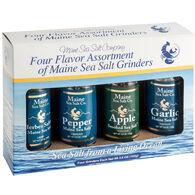Maine Sea Salt Refillable Grinder Sampler