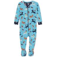 Hatley Infant Boy's Playful Pups Organic Cotton Footed Coverall