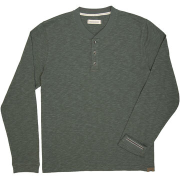 Dakota Grizzly Mens Blake Heather Henley Long-Sleeve Shirt