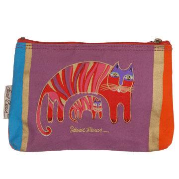 Sun N Sand Feline Frolic Small Cosmetic Bag