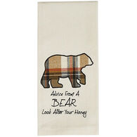 Park Designs Advice From A Bear Applique Dish Towel