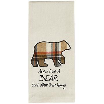Park Designs Advice From A Bear Applique Dish Towel