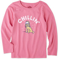 Life is Good Girls' Chillin Rocket Long-Sleeve Crusher T-Shirt