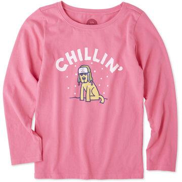 Life is Good Girls Chillin Rocket Long-Sleeve Crusher T-Shirt