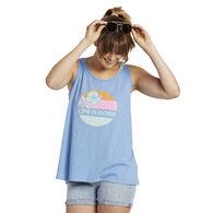 Life is Good Women's Hibiscus Sun Breezy Tank Top