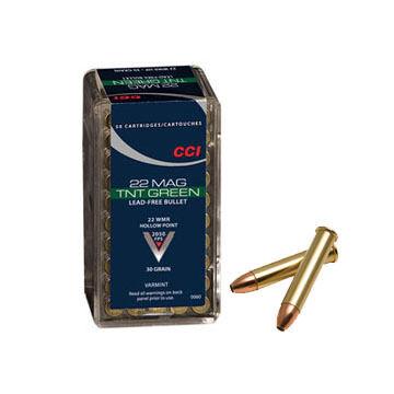 CCI TNT Green 22 Winchester Magnum 30 Grain TNT Green HP Ammo (50)