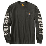 Carhartt Men's Big & Tall Double Sleeve Graphic Long-Sleeve Pocket T-Shirt