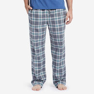 Life is Good Men's Gray Yarn Dye Plaid Sleep Pant