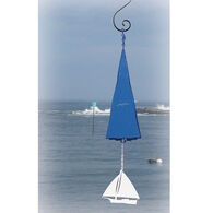 North Country Wind Bells Sea Breeze Bell w/ White Sailboat Windcatcher