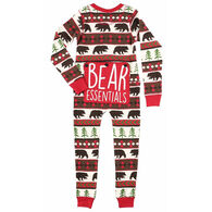 Lazy One Boys' Bear Essentials Flap Jack Onesie