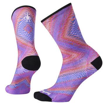 SmartWool Womens Run Ultra Light PhD Print Crew Sock