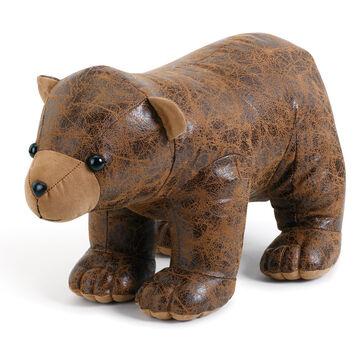 Big Sky Carvers Faux Leather Bear Door Stop