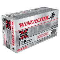 Winchester Super-X 38 Special 158 Grain Cowboy Action Lead Flat Nose Handgun Ammo (50)