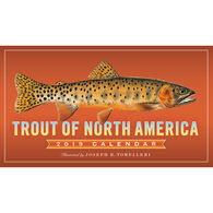 Trout of North America 2019 Wall Calendar by Joseph R. Tomelleri