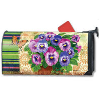 MailWraps Pretty Pansies Magnetic Mailbox Cover