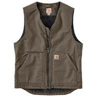 Carhartt Men's Washed Duck Sherpa-Lined Vest