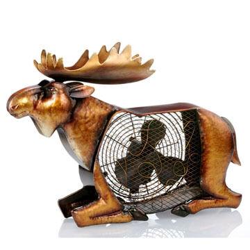 DecoBREEZE Figurine Fan - Moose