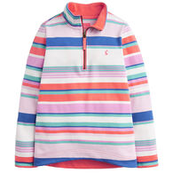 Joules Girl's Fairdale Half-Zip Long-Sleeve Pullover