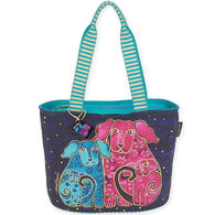 Sun N Sand Women's Blossoming Pups Medium Shoulder Tote Bag