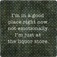 Paisley & Parsley Designs I'm In A Good Place Marble Tile Coaster