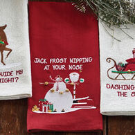 Park Designs Jack Frost Embroidered Dish Towel