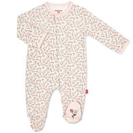 Magnetic Me Infant Girl's Bedford Floral Organic Cotton Magnetic Footie Pajama