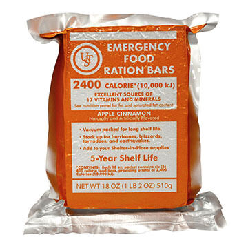 UST Emergency Food Ration 5-Year Food Bar - 4 Pk.