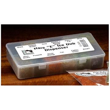 Hareline Ice Dub Dispenser w/ Ice Dub Fly Tying Material