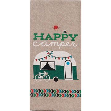 Kay Dee Designs Happy Camper Chambray Tea Towel