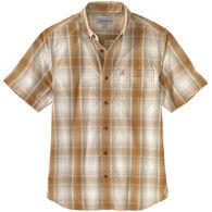 Carhartt Men's Relaxed Fit Lightweight Button-Down Plaid Short-Sleeve Shirt
