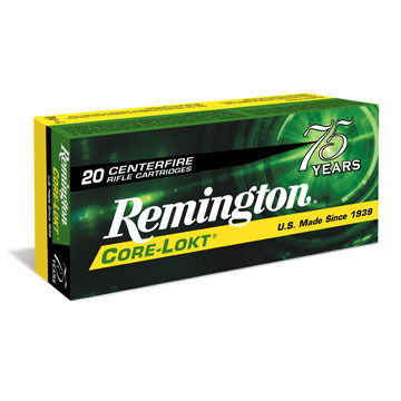 Remington Core-Lokt 6mm Remington 100 Grain PSP Rifle Ammo (20)