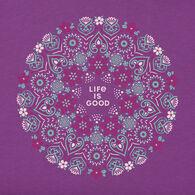 Life is Good Women's Wildflower Primal Mandala Crusher Short-Sleeve T-Shirt