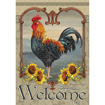 Carson Home Accents Flagtrends Rustic Rooster Garden Flag