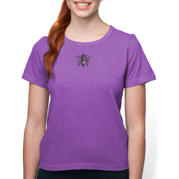 Earth Creations Womens Queen Bee on Organic Cotton Short-Sleeve T-Shirt