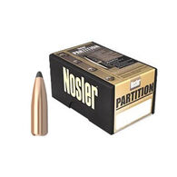 "Nosler Partition 30 Cal. 165 Grain .308"" Spitzer Point Rifle Bullet (50)"