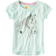 Carhartt Toddler Girls' Feather Horse Short-Sleeve T-Shirt